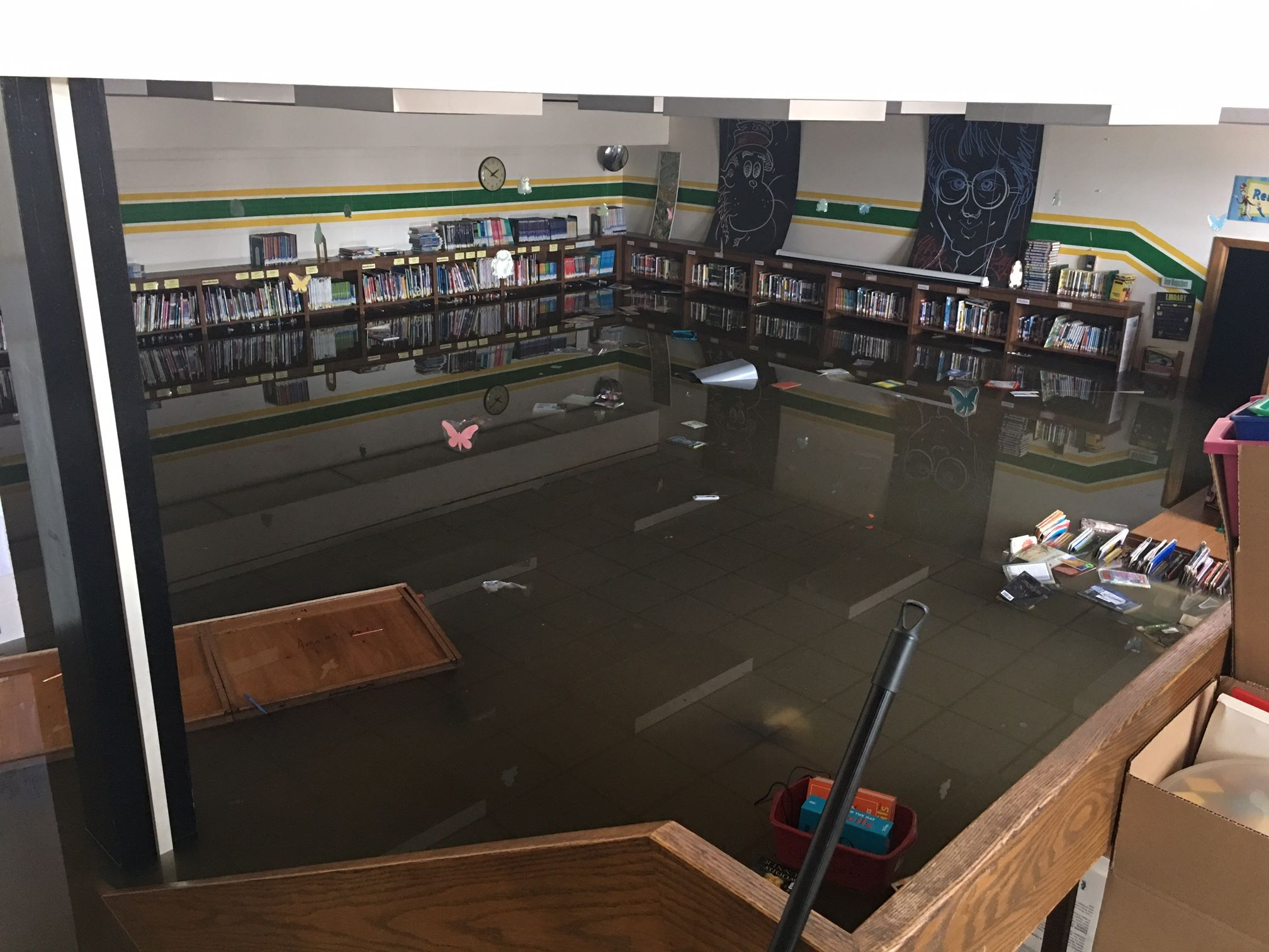 W.J. Murphy Elementary School in Round Lake Park after July's floods
