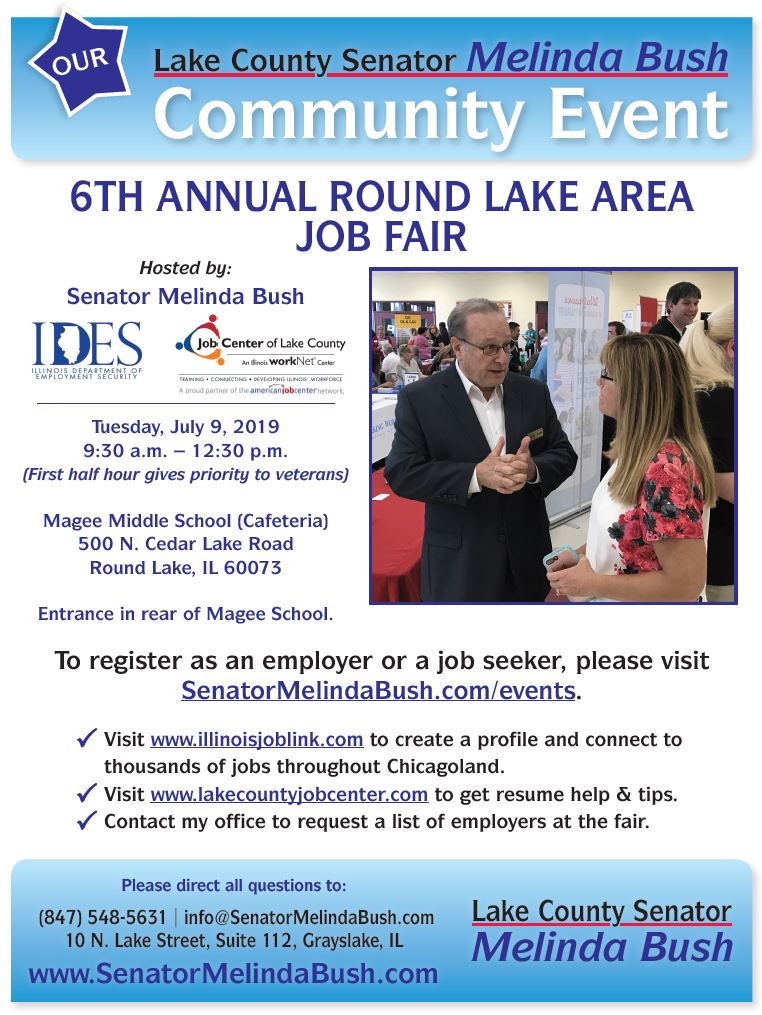 Round Lake Job Fair flyer
