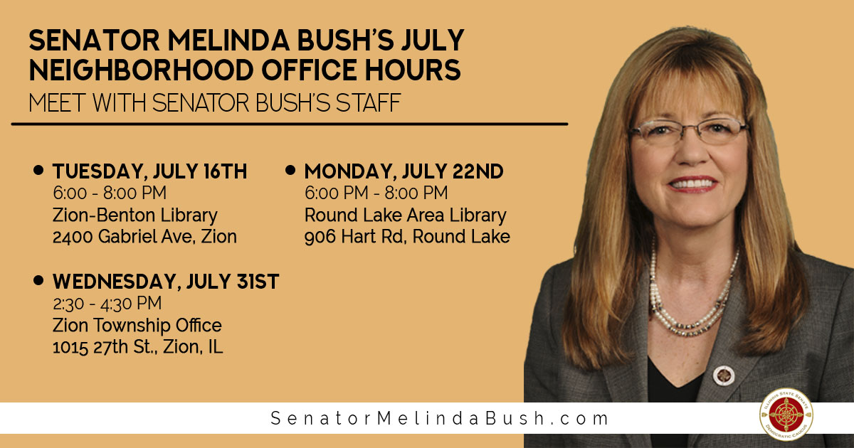 Senator Bush's July 2019 Neighborhood Office Hours