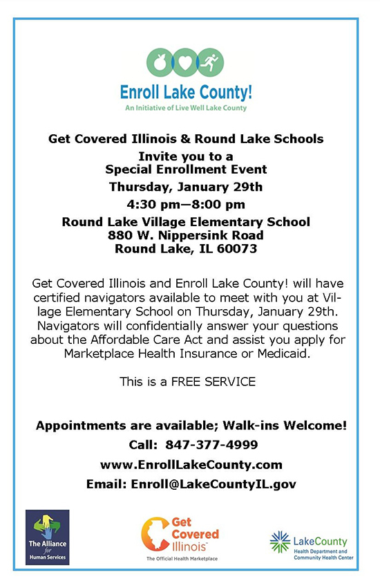 Get Covered Illinois - Round Lake Event - 01-29-2015 English flyerR
